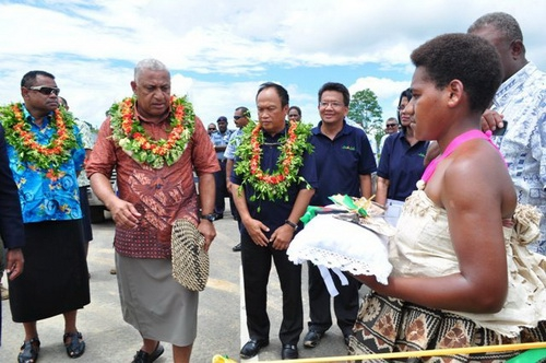 Handing over ceremony of upgraded Waito to Wailotua Road, Fiji