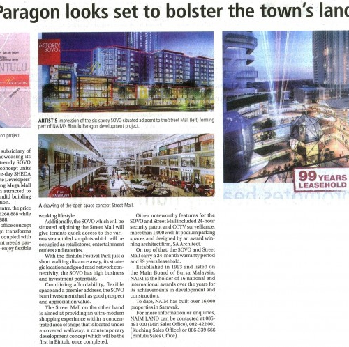 Bintulu Paragon looks set to bolster the town's landscape