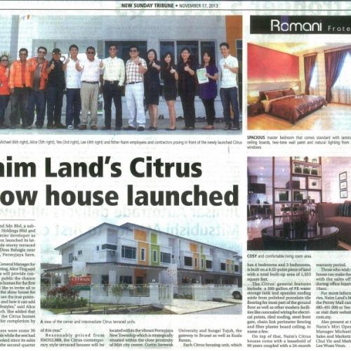 Naim Land's Citrus show house launched