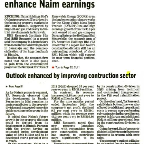 Property division to enhance Naim earnings