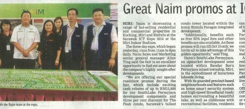 Great Naim promos at ICT Expo