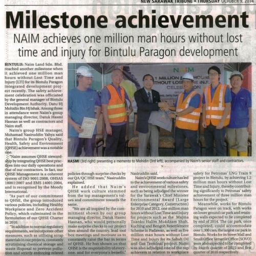 Milestone achievement