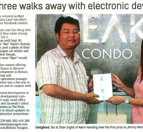 Lucky three walks away with electronic devices