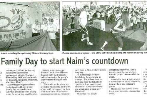 Kuching Family Day to start Naim's countdown
