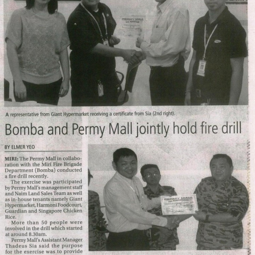 Bomba and Permy Mall jointly hold fire drill