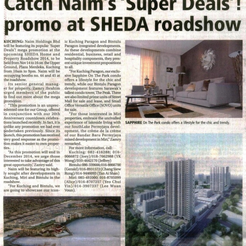 Catch Naim's 'Super Deals'! promo at SHEDA roadshow