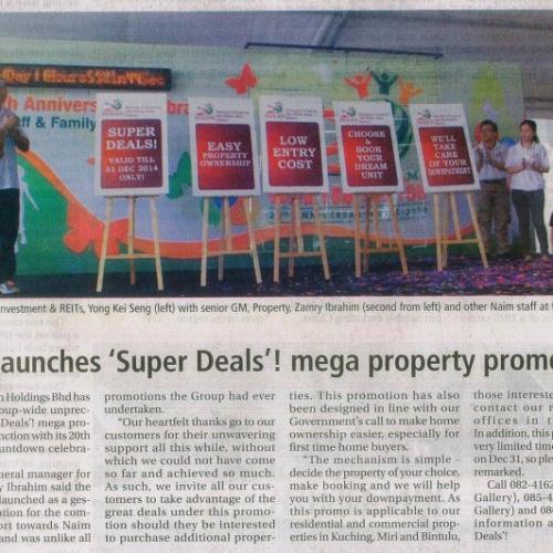 Naim launches 'Super Deals'! mega property promotion