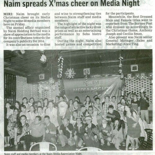 Naim spreads X'mas cheer on Media Night