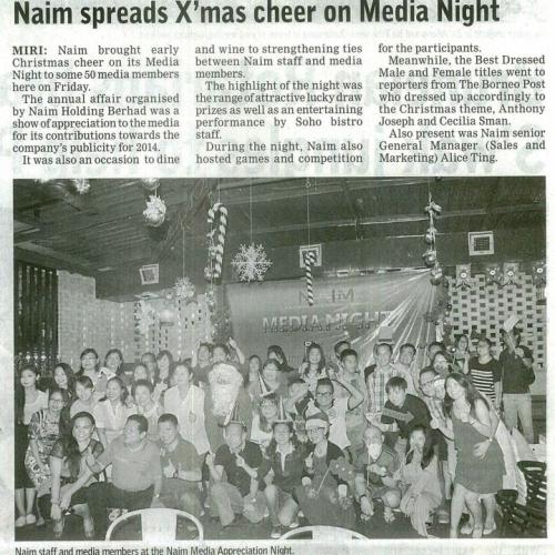 Naim spreads X'mas cheer on Media Night