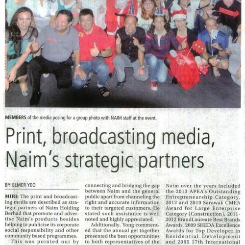 Print, broadcasting media, Naim's strategic partners
