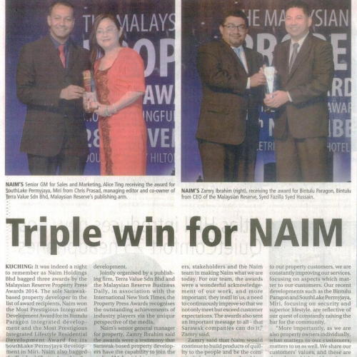 Triple Win for Naim