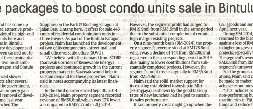 Attractive packages to boost condo units sale in Bintulu