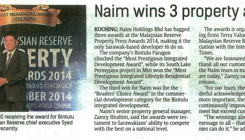 Naim wins 3 property awards