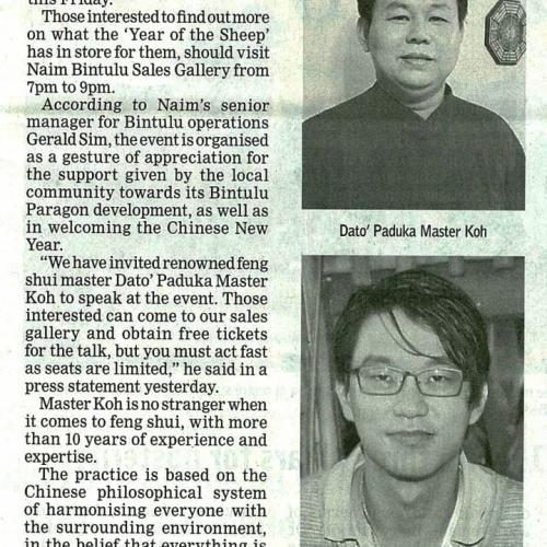Naim Bintulu to host feng shui talk on Jan 9