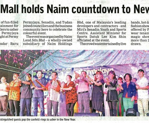 Permy Mall holds Naim countdown to New Year