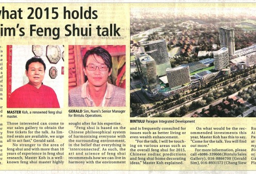 Know what 2015 holds with Naim's Feng Shui talk