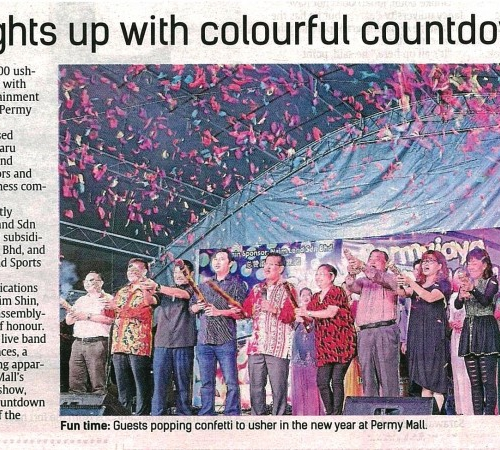 Mall lights up with colourful countdown