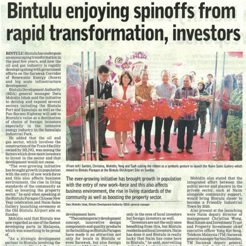 Bintulu enjoying spinoffs from rapid transformation, investors