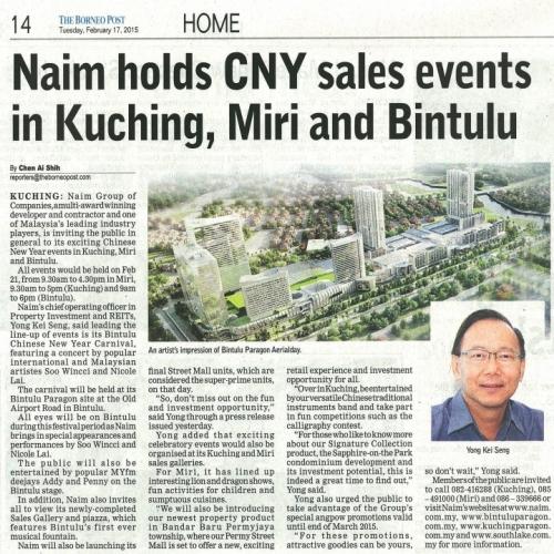 Naim holds CNY sales events in Kuching, Miri and Bintulu