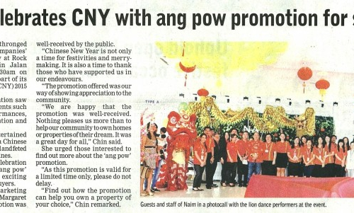 Naim celebrates CNY with ang pow promotion for sales