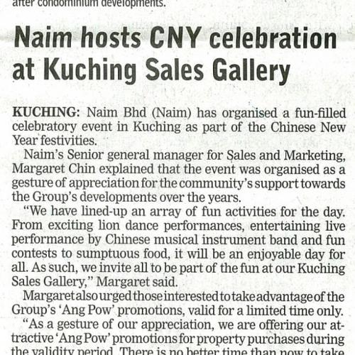 Naim hosts CNY celebration at Kuching Sales Gallery
