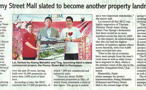 Naim's Permy Street Mall slated to become another property landmark in Miri