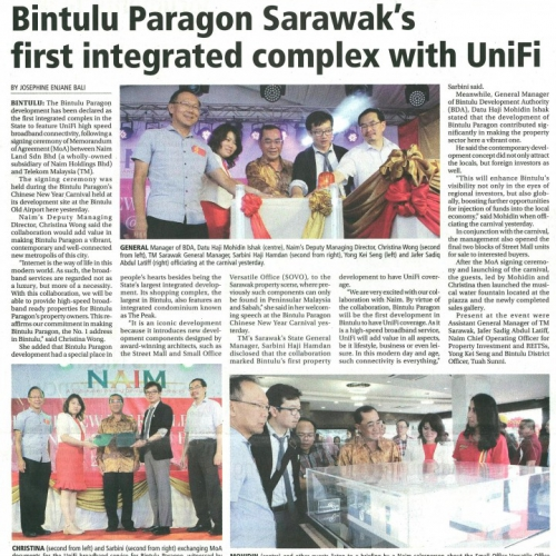 Bintulu Paragon Sarawak's first integrated complex with UniFi