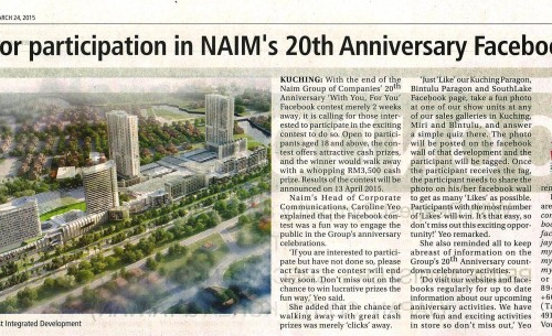Final call for participation in NAIM's 20th Anniversary Facebook contest