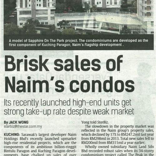 Brisk sales of Naim's condos