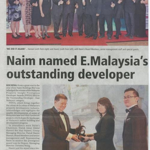 Naim Named E.Malaysia's Outstanding Developer