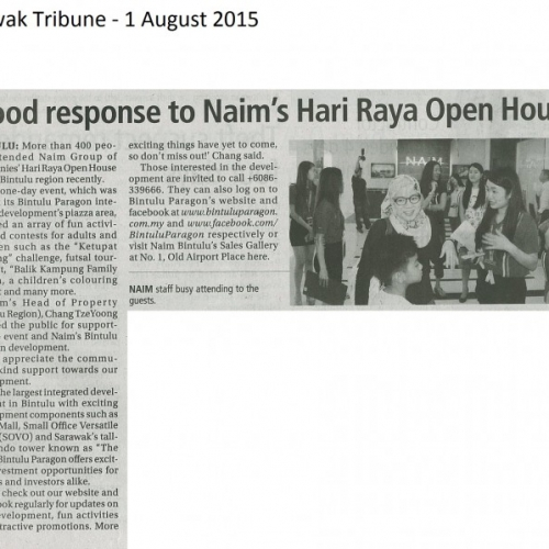 Good response to Naim's Hari Raya Open House