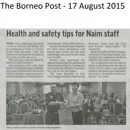 Health and Safety tips for Naim staff