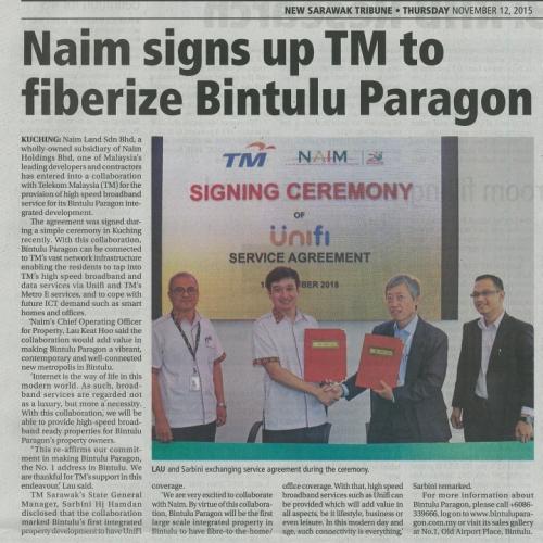 Naim signs up TM to fiberize Bintulu Paragon