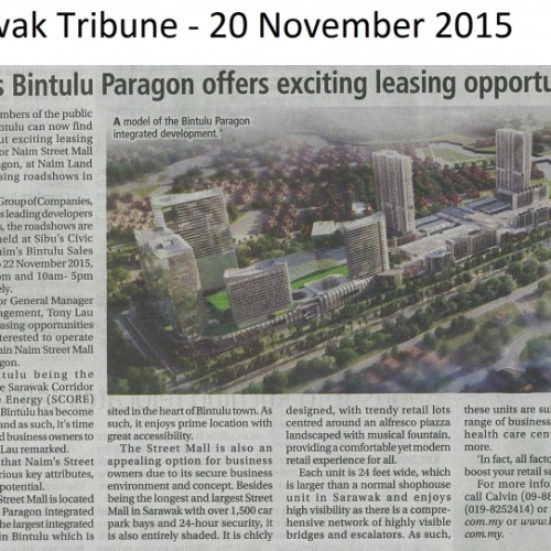 Naim's Bintulu Paragon offers exciting leasing opportunities