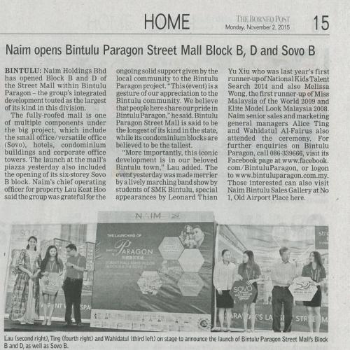 Naim opens Bintulu Paragon Street Mall Block B, D and Sovo B