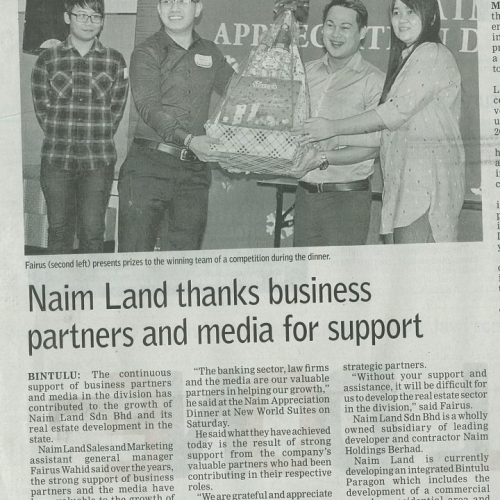 Naim Land thanks business partners and media for support