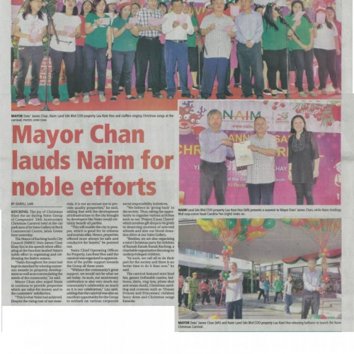 Mayor Chan lauds Naim for noble efforts
