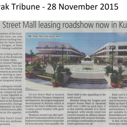 Naim Street Mall Leasing roadshow now in Kuching