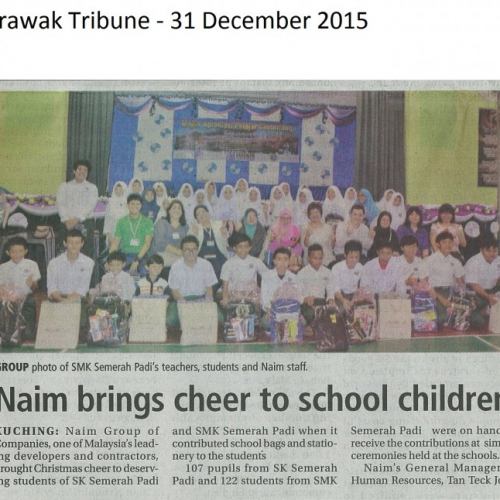 Naim brings cheer to school children