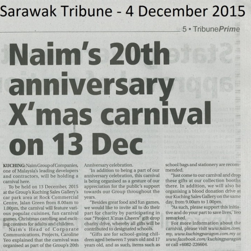 Naim's 20th Anniversary X'mas carnival on 13 DEC