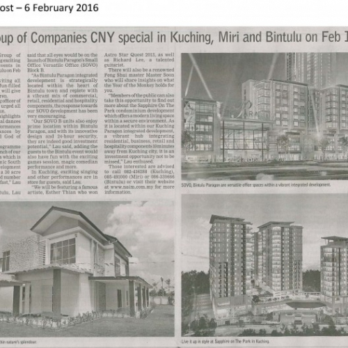 Naim Group of Companies CNY special in Kuching, Miri and Bintulu on FEB 10