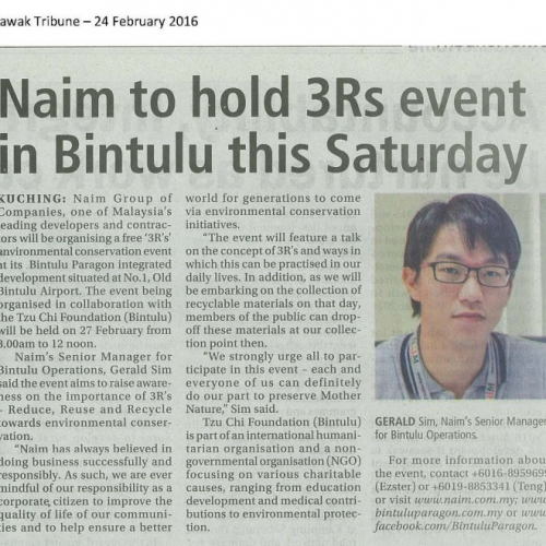 Naim to hold 3Rs event in Bintulu this Saturday