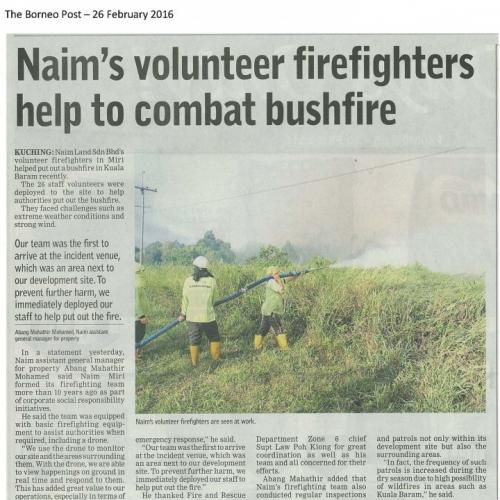 Naim's volunteer firefighters help to combat bushfire