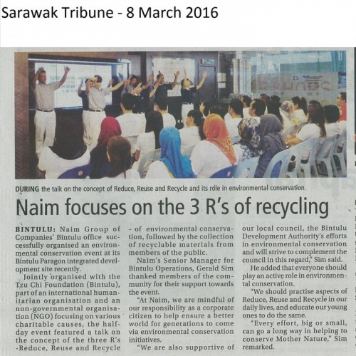 Naim focuses on the 3R's of recycling