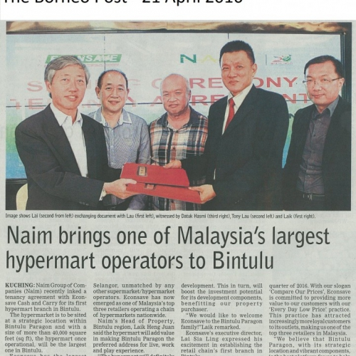 Naim brings one of Malaysia's largest hypermart operators to Bintulu