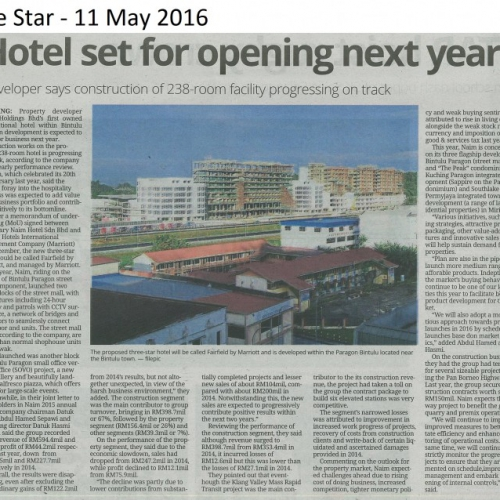 Hotel set for opening next year