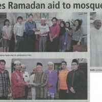 Naim Makes Ramadan Aid to Mosque