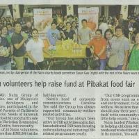 Naim volunteers help raise fund at Pibakat food fair