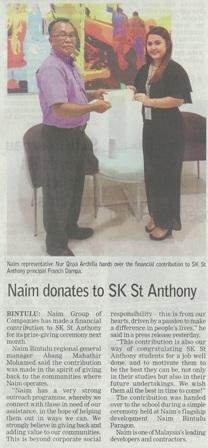 Naim donates to SK St Anthony