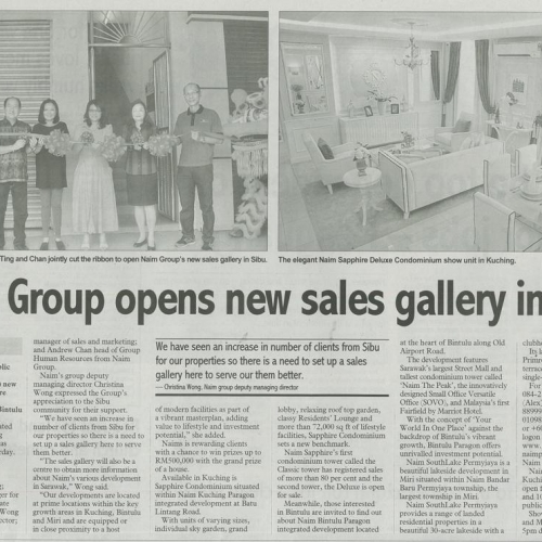 Naim Group opens new sales gallery in Sibu